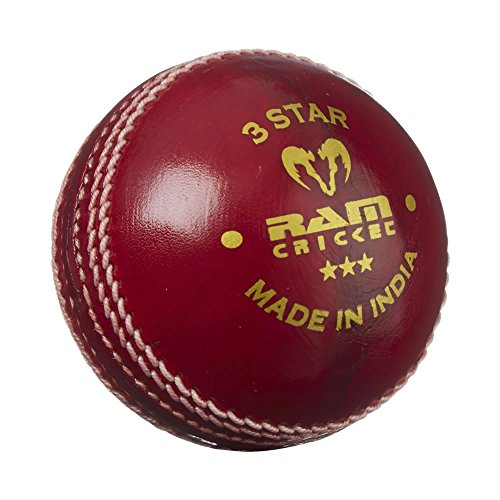 Ram Cricket 3 Star Multi-Purpose Training Cricket Ball - Red - 2 Sizes - 6 Pack (4.75oz) from Ram