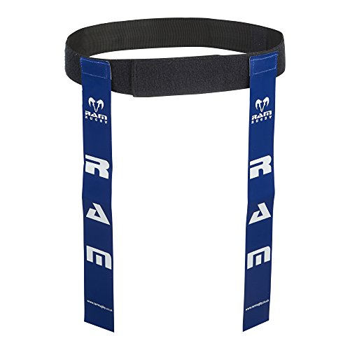 Ram Rugby Tag Belts - Set of 10 Belts & 20 Tags - Available in 6 Colours - 2 Sizes (Blue, Large) from Ram