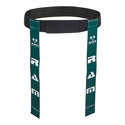 Ram Rugby Tag Belts - Set of 10 Belts & 20 Tags - Available in 6 Colours - 2 Sizes (Green, Large) from Ram