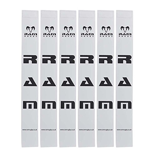 Ram Rugby Tags Only - Sets of 20 Tags - 6 Colours (White) from Ram