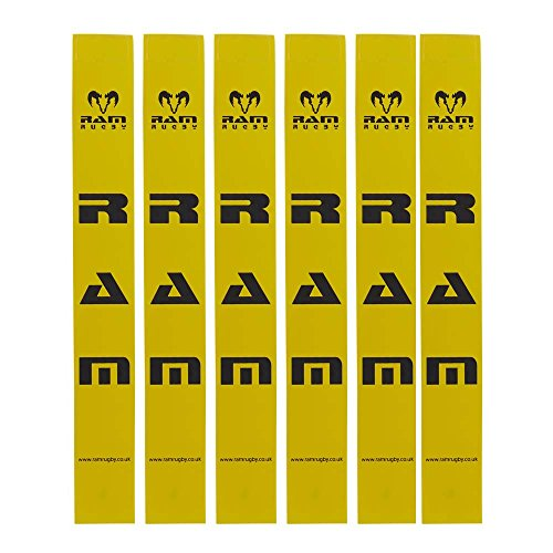 Ram Rugby Tags Only - Sets of 20 Tags - 6 Colours (Yellow) from Ram