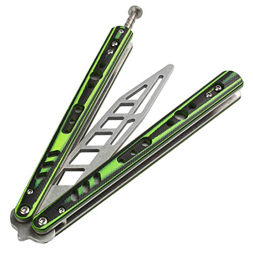 Ran's L Flip Training Tool CSGO Titanium Lightweight with Holes and Spring Latch CS/HDD40 Green from Ran's L