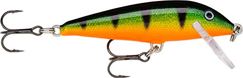 Rapala CountDown Lure with Two No. 10 Hooks, 0.9-1.8 m Swimming Depth, 5 cm Size, Legendary Perch from Rapala