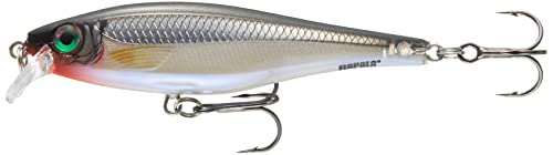 Rapala BX Minnow Lure with Two No. 4 Hooks, 0.9-1.5 m Swimming Depth, 10 cm Size, Silver from Rapala