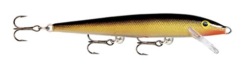 Rapala Original Floater Lure with Three No. 5 Hooks, 1.2-1.8 m Swimming Depth, 13 cm Size, Gold from Rapala