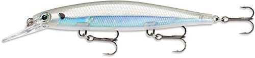 Rapala Shadow Rap Deep Lure with Three No. 6 Hooks, 1.2-2.4 m Swimming Depth, 11 cm Size, Albino Shiner from Rapala
