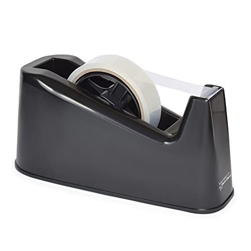 Rapesco RPTD500B 500 Heavy Duty Tape Dispenser, Tape Rolls up to 25 mm x 66 m - Black from Rapesco
