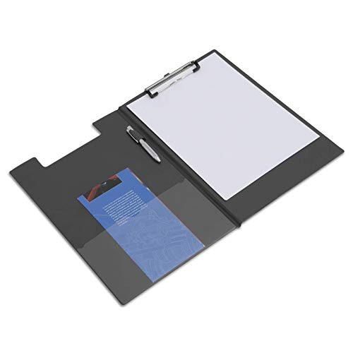 Rapesco Clipboard - A4+ Foldover with Film Pocket, Black from Rapesco
