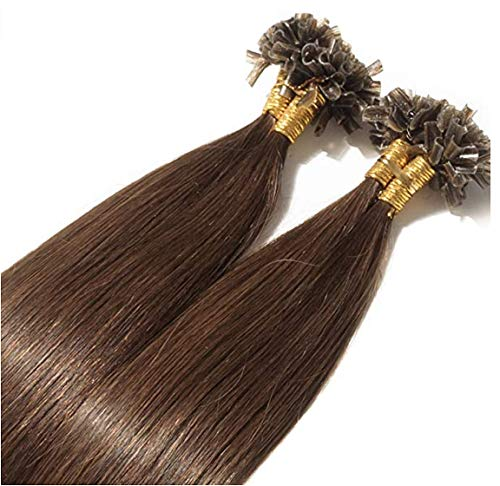 "16"" Pre bonded 1 gram U/Nail tip remy human hair extensions - choose your colour (4 Medium Brown) from Rapunzels"