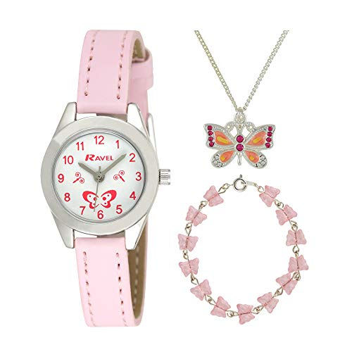Ravel 'Little Gems' Butterfly Watch and Silver Plated Jewellery Set. from Ravel