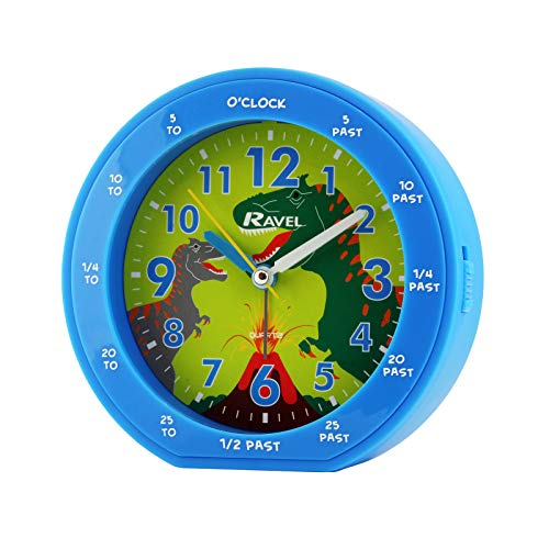 Ravel Quartz Alarm Clock, Blue from Ravel