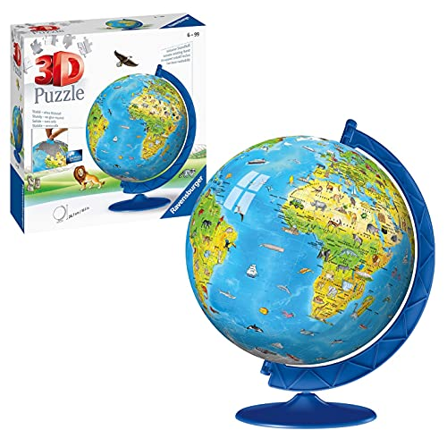 Ravensburger Children's World Globe 180 piece 3D Jigsaw Puzzle from Ravensburger