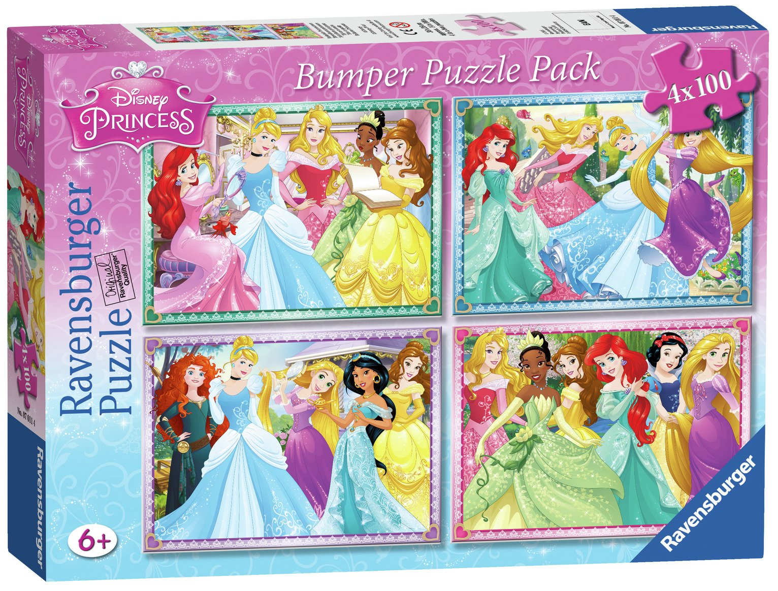 Ravensburger Disney Princess 100 Piece Puzzle - 4 Pack from Ravensburger
