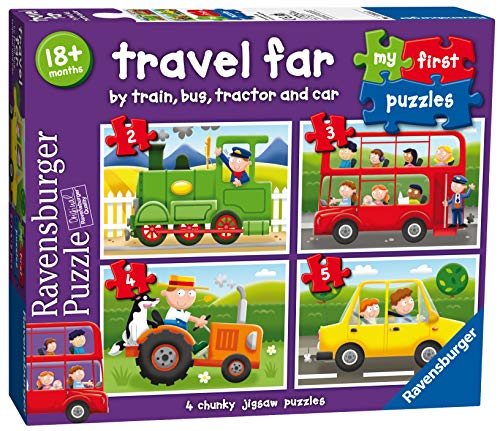Ravensburger My First Puzzle, Travel Far (2, 3, 4 & 5pc) Jigsaw Puzzles from Ravensburger