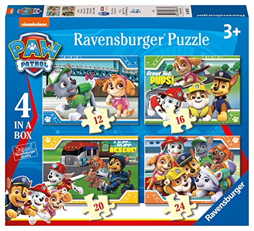 Ravensburger Paw Patrol 4 in a Box (12, 16, 20, 24pc) Jigsaw Puzzles from Ravensburger