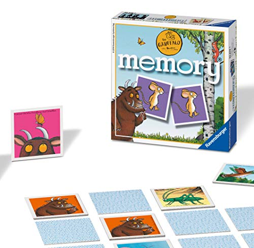 Ravensburger UK 22279 Ravensburger The Gruffalo-Mini Memory Kids Age 3 Years and Up-A Classic Picture Snap Matching Pairs Game from Ravensburger