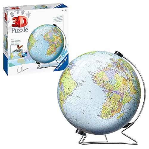 Ravensburger The World on V-Stand Globe 540 pc 3D Jigsaw Puzzle from Ravensburger