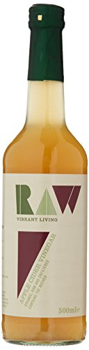 Raw Health Organic Cider Vinegar Unpasteurised with Mother 500 ml (Pack of 6) from Raw Health