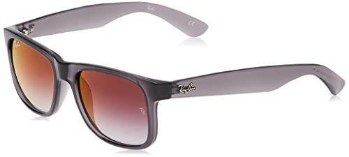 Ray-Ban Men's 0RB4165 606/U0 54 Sunglasses, Transparent Grey/Grey Gradient Mirror Red from Ray-Ban