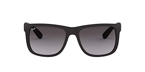 Ray-Ban Unisex-Adult's Justin Sunglasses, Black (601/8G Black), 51 mm from Ray-Ban