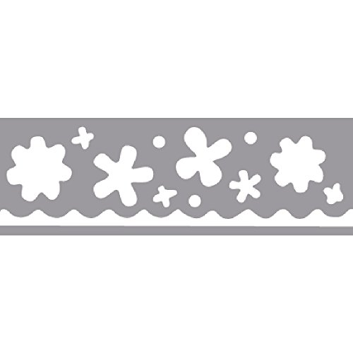 Rayher Border Puncher-Flowers, Suitable for Cardboard up to 200g/m², Black & White, 22 x 15.5 x 6.5 cm from Rayher