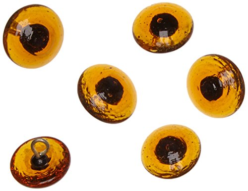 Rayher Glass animals' eyes to sew on 18 mm, tab-bag 6pcs, brown, miscellaneous, 0.91 x 0.6 x 0.18 cm from Rayher