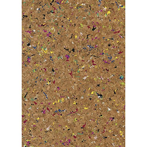 Rayher Granulate Cork Fabric Rool, Natural/Multi-Colour, 45 x 30 cm, 0.5 mm, 1 Roll from Rayher