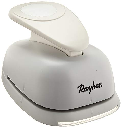 "RAYHER Motive Puncher: Round, 7.6cm ø, (3""), tab-Blister 1pc, Metal, white , 23 x 14 x 9 cm from Rayher"