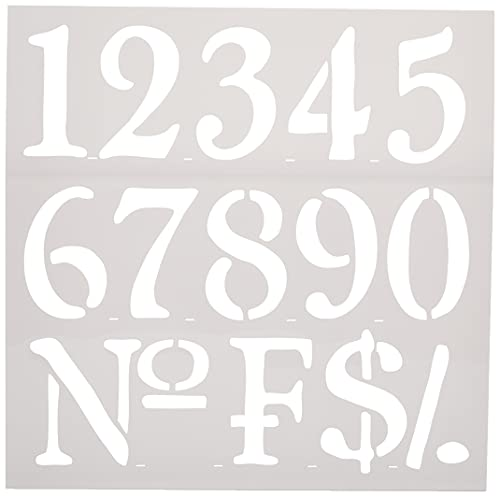 Rayher 38907000 Reusable Stencil with Number Designs, Stencil Mask for craft and home décor projects from Rayher