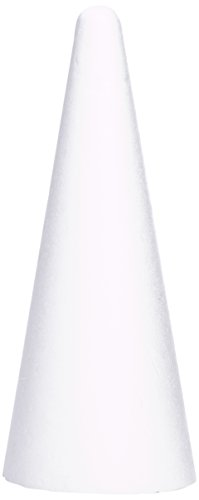 Rayher Styrofoam-Cone, 20 cm, Height 50 cm, miscellaneous, White, 5.05 x 2 x 2 cm from Rayher