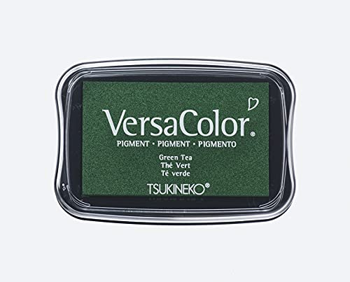 Rayher Versa Color Pigment ink-pad, 9.6x6.3x1.8cm, green tea, Sponge, 9.4 x 6.6 x 2 cm from Rayher