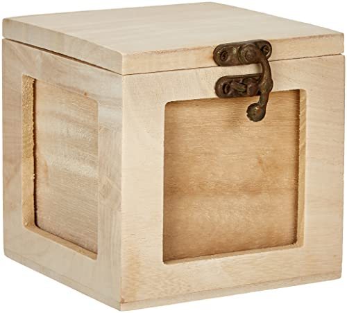 Rayher Wooden Photo Box, Wood-Coloured, 11.3 x 12.5 x 11.2 cm from Rayher