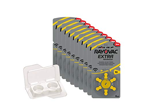 Rayovac Extra Type 10 Hearing Aid Batteries Zinc Air P10 PR70 ZL4 Pack of 60 from Rayovac