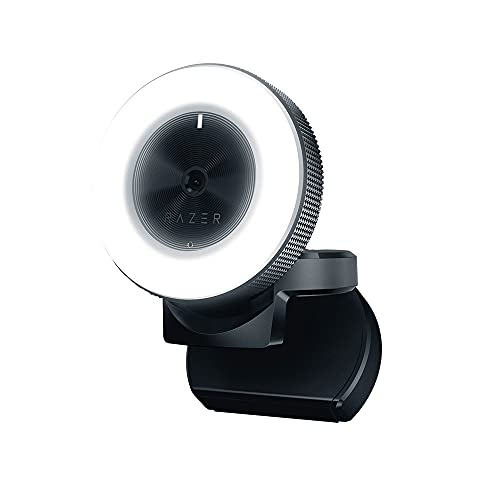Razer Kiyo 1080p 30 FPS/720 p 60 FPS Streaming Webcam with Adjustable Brightness Ring Light, Built-in Microphone and Advanced Autofocus from Razer