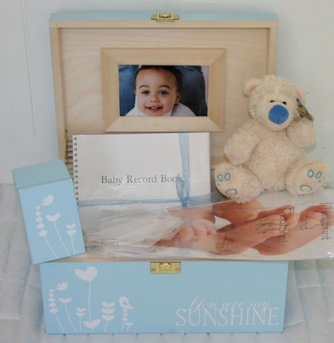 Boys Blue Baby Decorative Wooden Keepsake Box Gift Sets - Boxes for a boy ideal for Mum-to-be, Maternity Gifts from Read's Creations