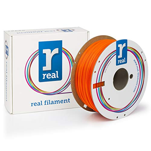 Real Filament 8719128326030 Real PLA, Spool of 1 kg, 1.75 mm, Fluor Orange from Real Filament