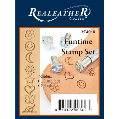 Realeather Crafts Leather Funtime Stamp Set from Realeather Crafts