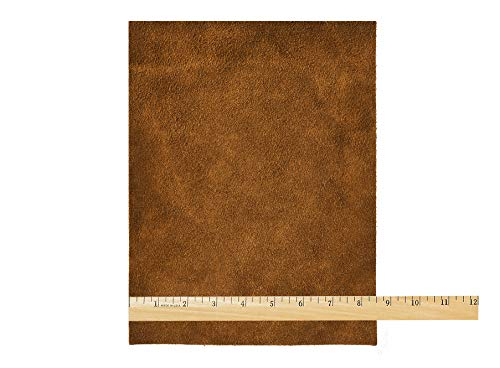 Realeather Crafts Suede Trim Piece 8.5 x 11-inch, Medium Brown from Realeather Crafts