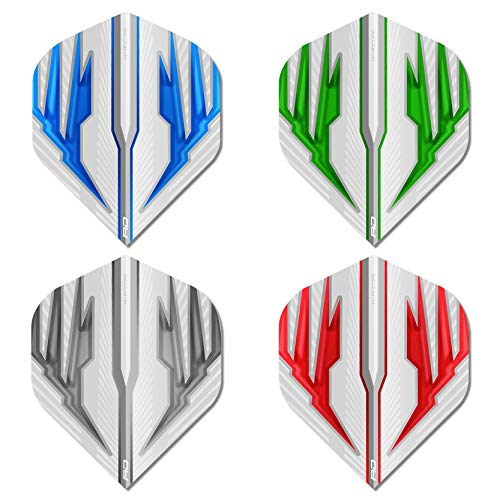 RED DRAGON Hardcore Selection Pack Light Wings Extra Thick Standard Dart Flights - 4 sets Per Pack (12 Dart Flights in total) from RED DRAGON
