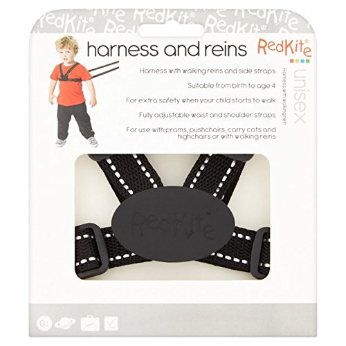 Red Kite Harness and Reins Black Reflective from Red Kite
