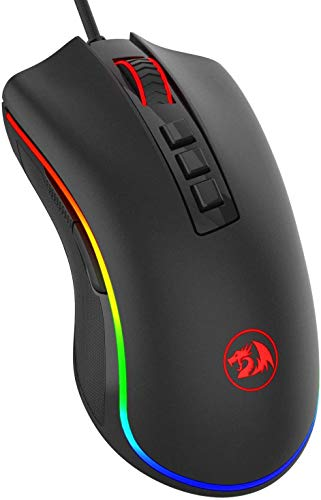 Redragon M711 COBRA Gaming Mouse with 16.8 Million Chroma RGB Color Backlit, 10,000 DPI, 7 Programmable Buttons from Redragon