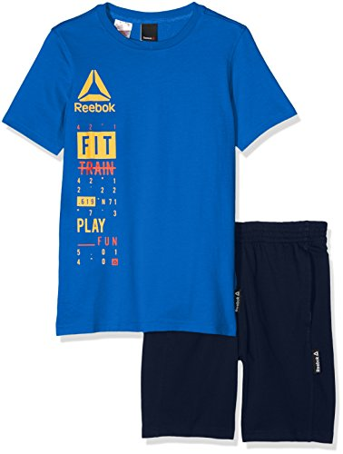 Reebok Men's B ES Set Short Sleeve T-Shirt, Blue/Awesom, Size 5T from Reebok