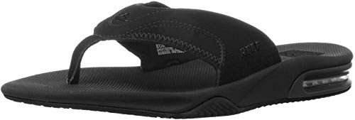 Reef Men's Fanning Sandals, Black (All Black), 12 UK from Reef