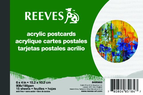 Reeves 4x6 inch Acrylic Postcard Pad from Reeves