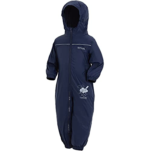 Regatta Unisex Kids Puddle IV All-in-One Suit, Blue (Navy), 12-18  months from Regatta