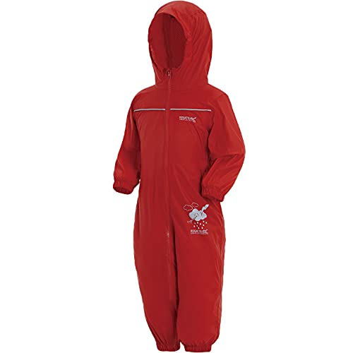Regatta Unisex Kids Puddle IV All-in-One Suit, Red (Pepper), 6-12  months from Regatta