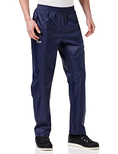 Regatta Waterproof Pack It Men's Outdoor Over Trouser available in Navy - X-Large from Regatta