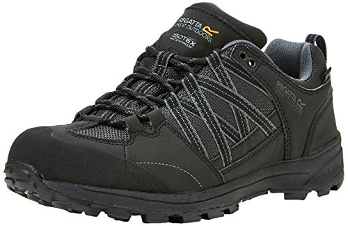Regatta Men's Samaris II Low Rise Hiking Boots, Black/Granite 9v8, 8 UK (42 EU) from Regatta