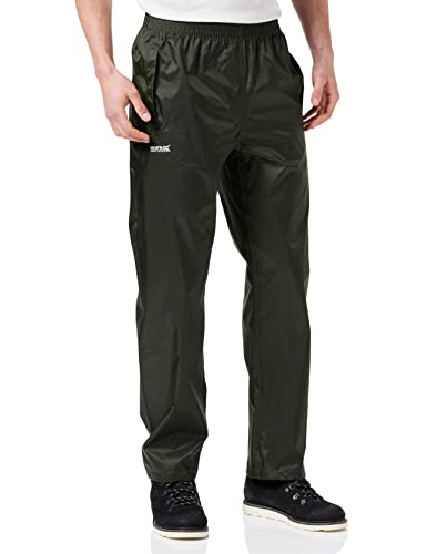 Regatta Waterproof Pack It Men's Outdoor Over Trouser available in Bay Leaf - Large from Regatta