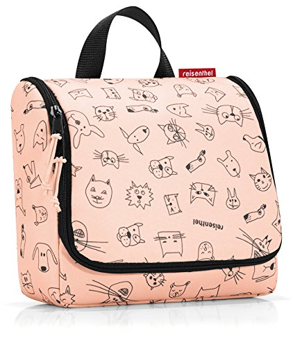2bb99530027 Reisenthel Toilet Bag Artist Stripes, Cats and Dogs Rose (Pink) - WH3064  from
